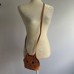 Leather KITTY CAT CROSSBODY bag